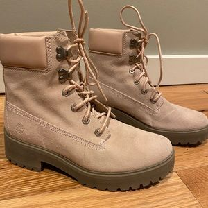 Timberland combat boots - pink woman's size 9